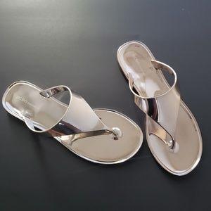 BCBGeneration Shoes - BCBGeneration SILVER STAR JELLY METALLIC SANDAL